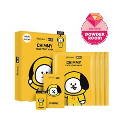 bt21 x mediheal face point mask set chimmy