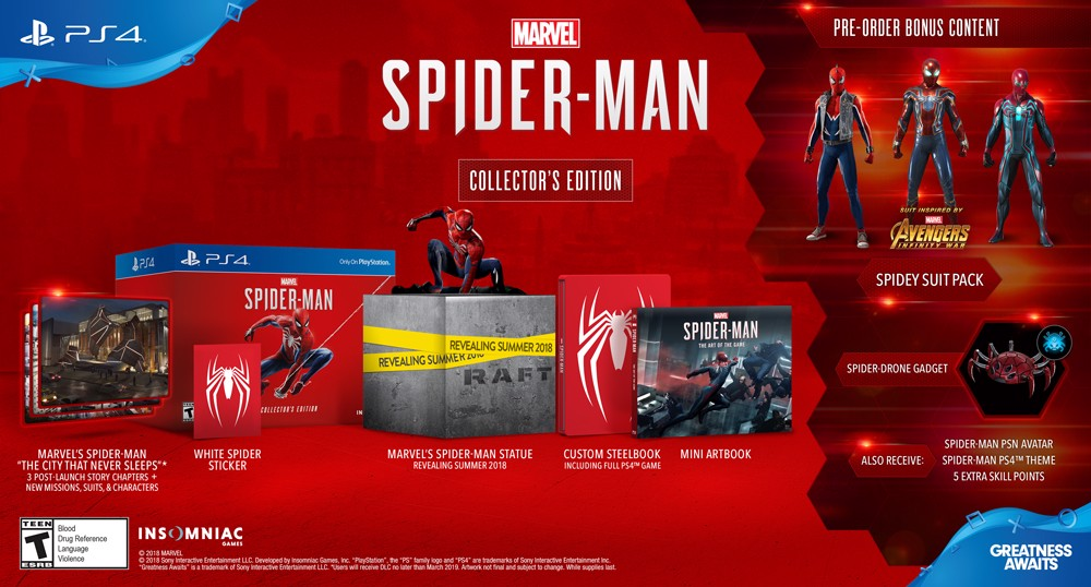 640 - Marvel's Spideman Collector's Edition