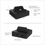 Dobe Nintendo Switch HDMI Video Converter Charing Dock Stand with USB 3.0 Port for Nintendo Switch Console