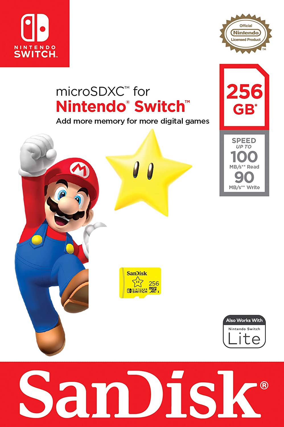 SanDisk 256GB microSDXC UHS-I-Memory-Card for Nintendo-Switch