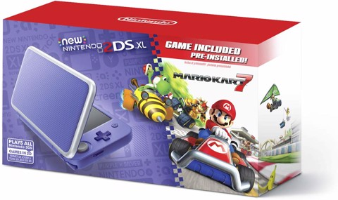 New Nintendo 2DS XL - Purple + Silver With Mario Kart 7