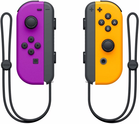 Nintendo Neon Purple/ Neon Orange Joy-Con (L-R)