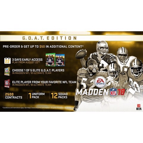 449 - Madden 18 G.O.A.T Edition