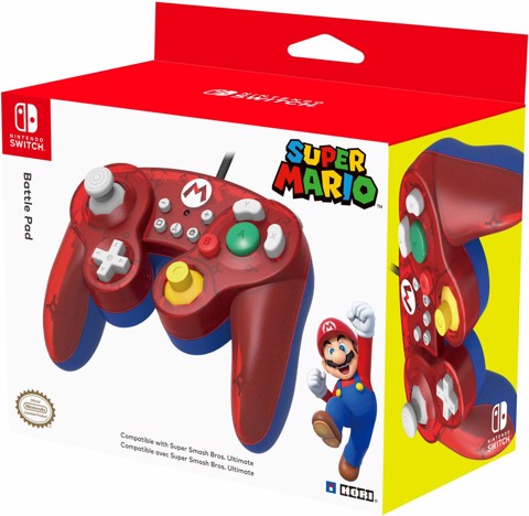 HORI Nintendo Switch Battle Pad (Mario) GameCube Style Controller