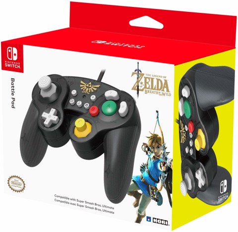 HORI Nintendo Switch Battle Pad (Zelda) GameCube Style Controller