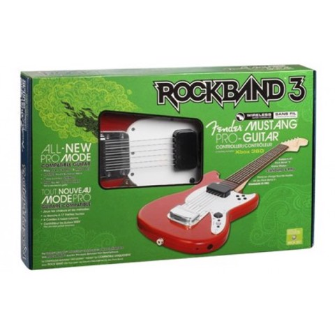 Xbox 360 Rock Band 3 Fender Mustang PRO Guitar
