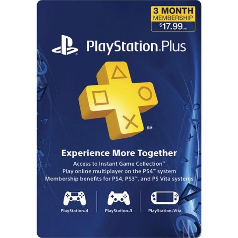 PSN Plus Card 03 Months US