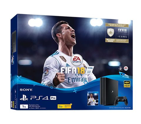 PlayStation 4 Pro 1TB FIFA 18 Bundle - Cty
