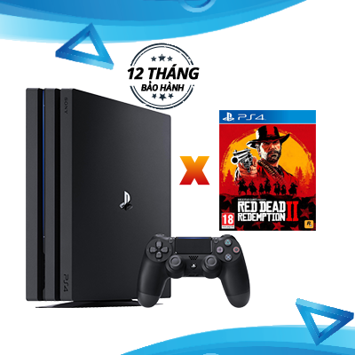 PlayStation 4 Pro 1TB Console - Red Dead Redemption 2 Combo