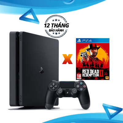 PlayStation 4 Slim 500GB Console - Red Dead Redemption 2 Combo