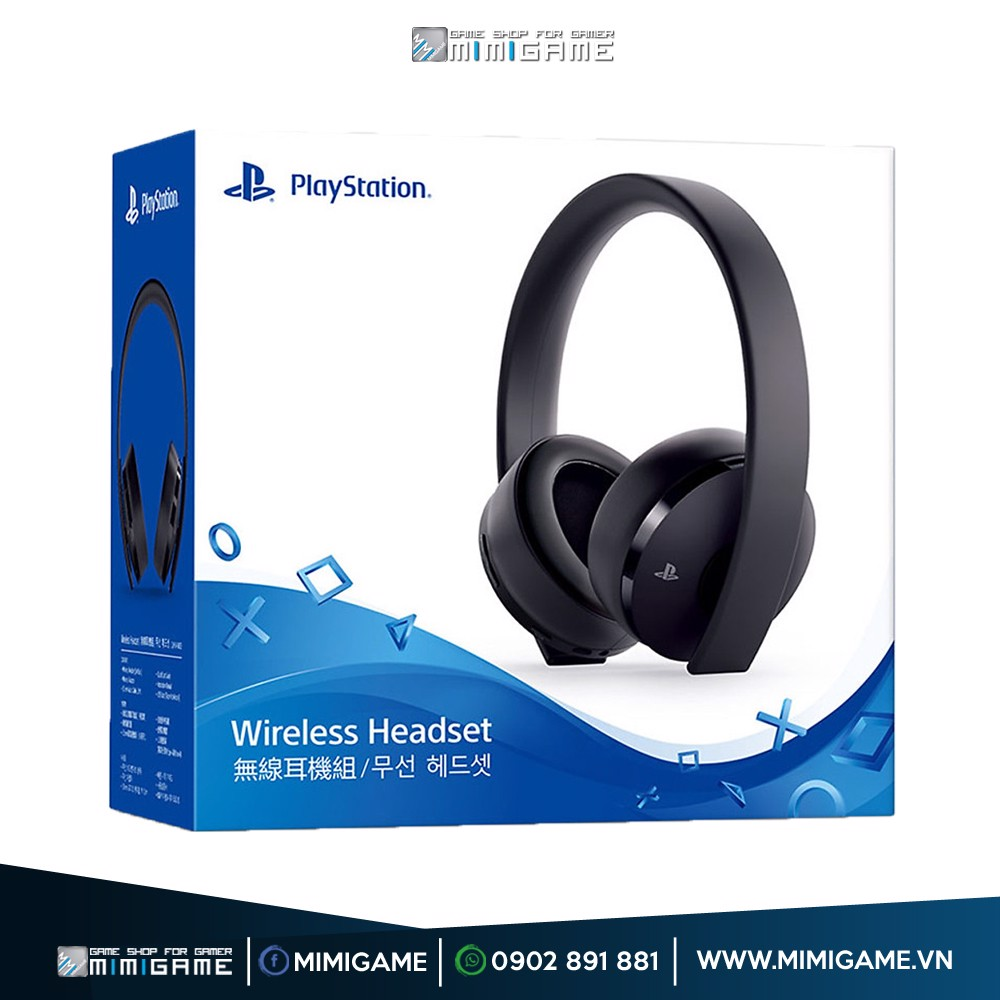 Tai Nghe New Gold Wireless Headset Cho PS4