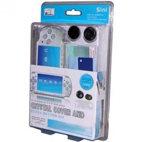 PSP 5 in 1 Crystal Cover And Extra Button Kit