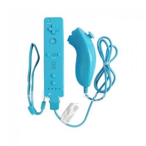 Wii Official Remote Control & Nunchuk Controller Blue