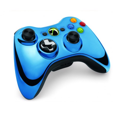 Chrome Xbox 360 Controller - Blue