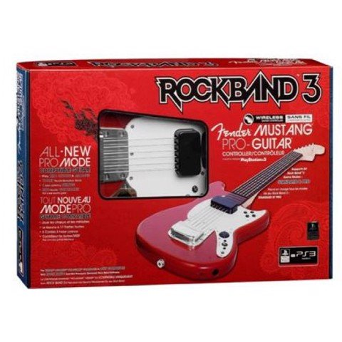 PS3 Rock Band 3 Fender Mustang PRO Guitar