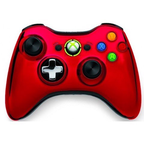 Chrome Xbox 360 Controller - Red