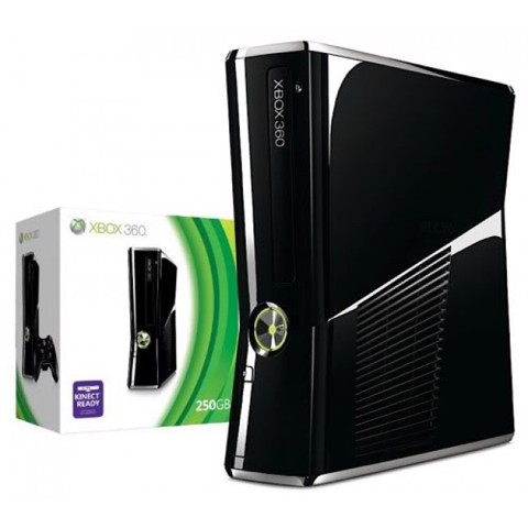 Xbox 360 Slim 250GB  Hack JTAG +Kinect - Second Hand