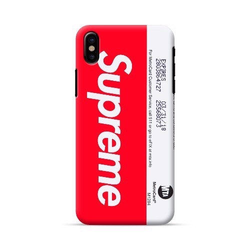 Ốp lưng iPhone X Supreme Underground in 3D