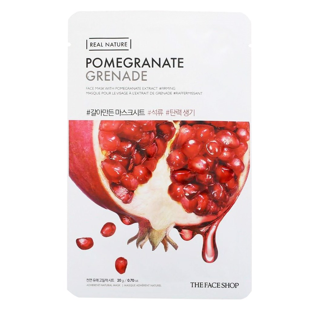 Mặt nạ The Face Shop chiết xuất từ hạt lựu Real Nature Pomegranate Face Mask 20g