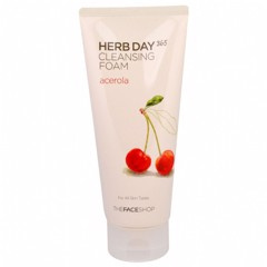 Sữa rửa mặt The Face Shop Herb Day 365 Cleansing Foam hương Acerola 170ml