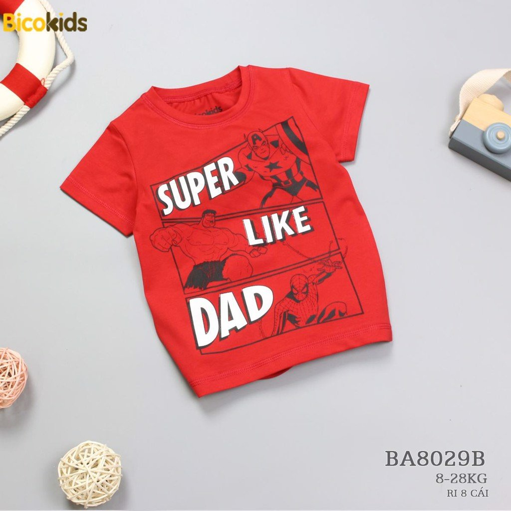 BA8029B - Áo Super Like Dad Đỏ