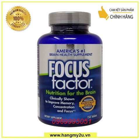 Hỗ Trợ Trí Não Focus Factor Nutrition for the Brains 180 viên
