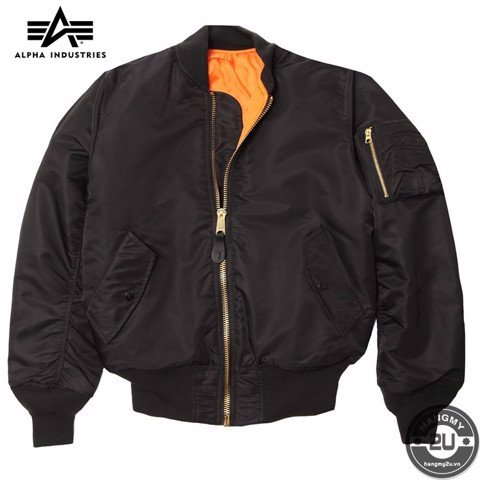 Áo Khoác Alpha Industries MA-1 Regular Fit Đen