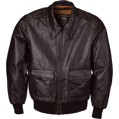 Áo khoác Alpha A-2 Goatskin Leather Flight Jacket