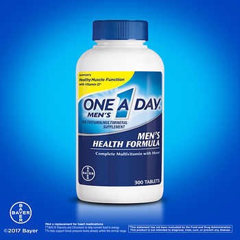 One A Day Men's Multivitamin Health Formula, 300 viên- New 2018