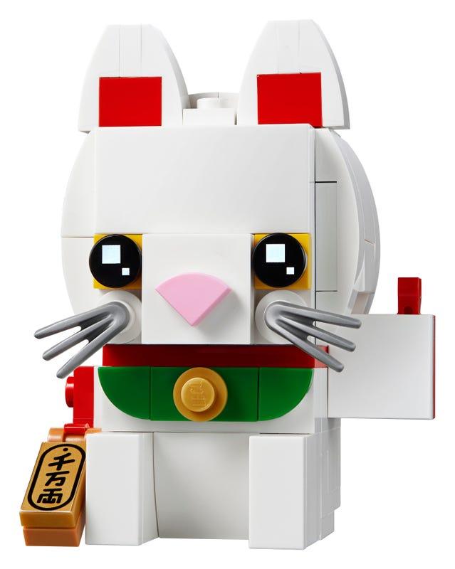 Lucky Cat - LEGO BRICK HEADZ 40436