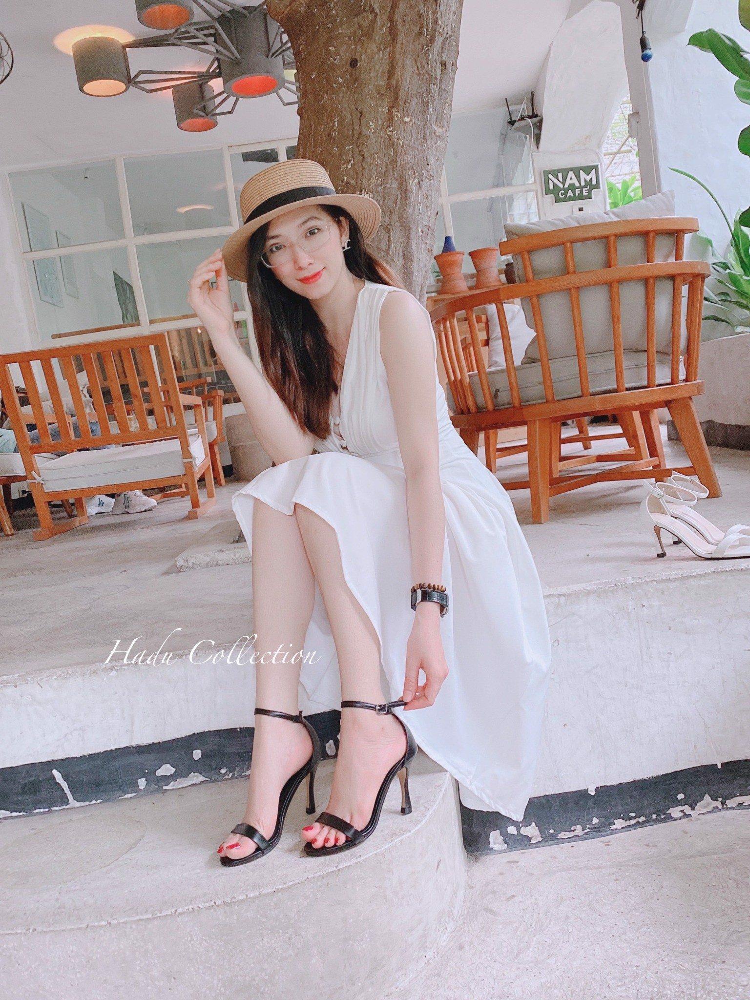 giày nữ đẹp giá rẻ, Sandal dây mãnh 7cm