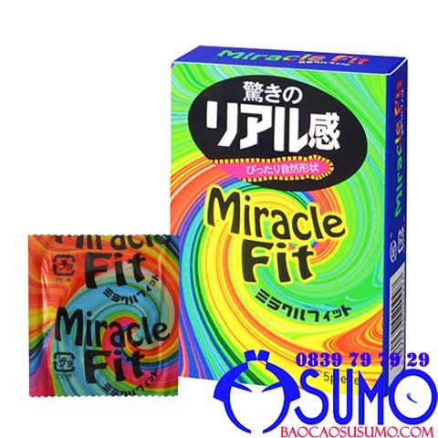 Bao cao su Sagami Miracle fit size nhỏ 49mm hop 5 chiec shop Sumo Can Tho