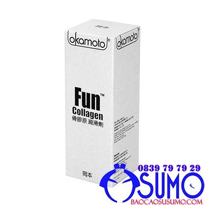Gel boi tron cao cap Okamoto Fun Collagen 60ml- Shop bao cao su Sumo Can Tho 0839797929