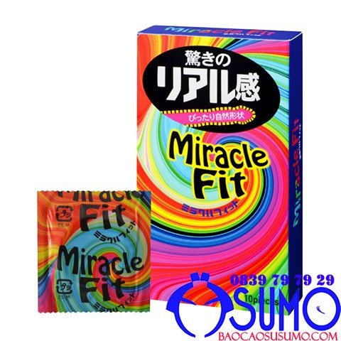 Bao cao su Sagami Miracle fit size nhỏ 49mm shop Sumo Can Tho