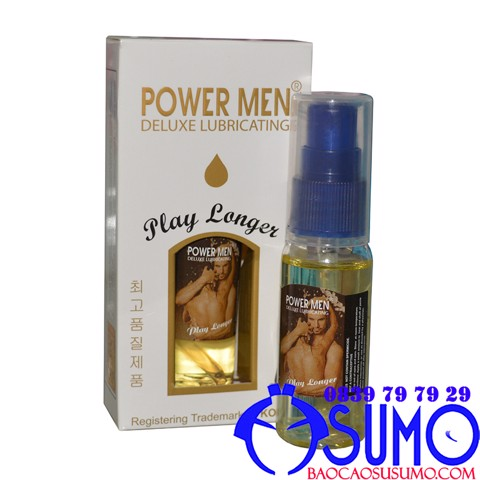 Gel boi tron keo dai thoi gian Power men Play Longer 30ml Shop Sumo Can Tho 0839797929