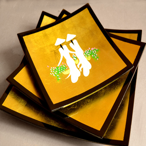 Lacquered plate ( set 3 )