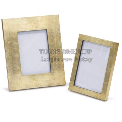 Gold leaf photo frames