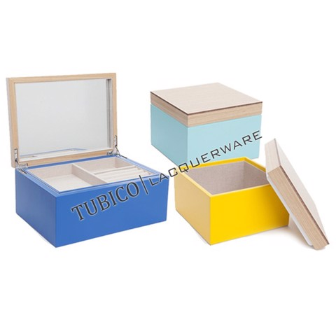 Lacquer jewelry box (set of 3)