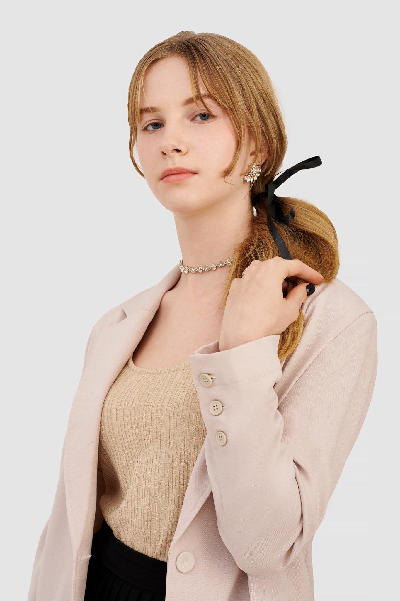 Áo blazer form relaxed basic