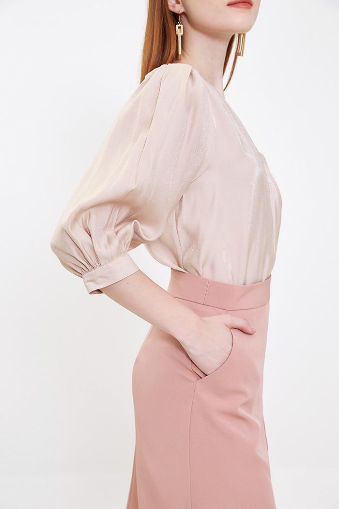Váy midi cơ bản công sở