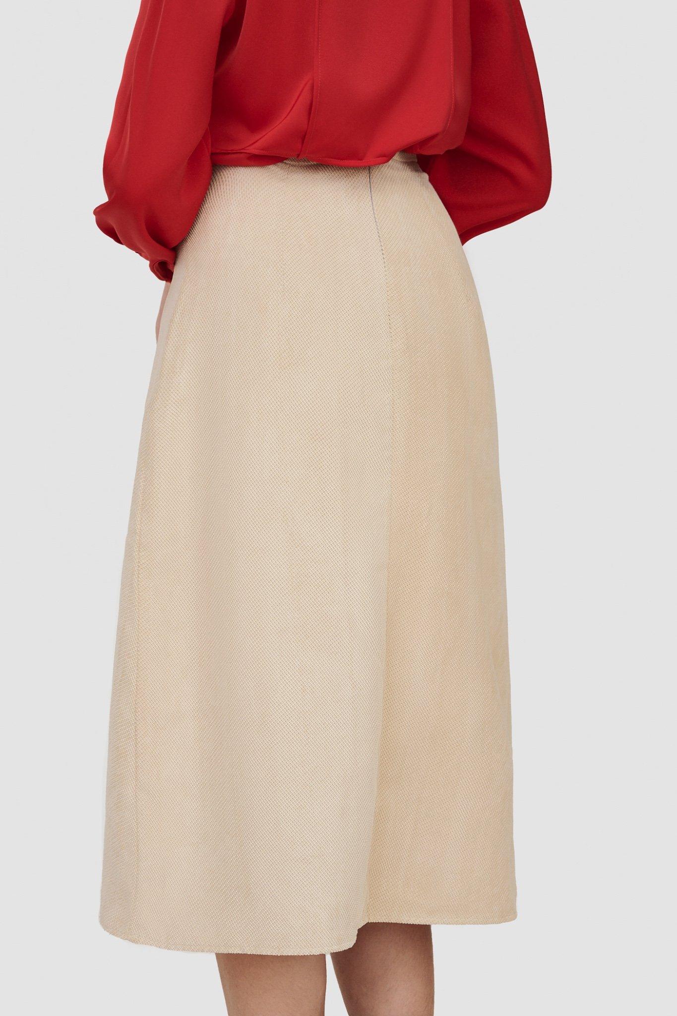 Váy midi khaki nhung