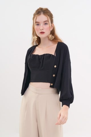 Áo cardigan crop form relax