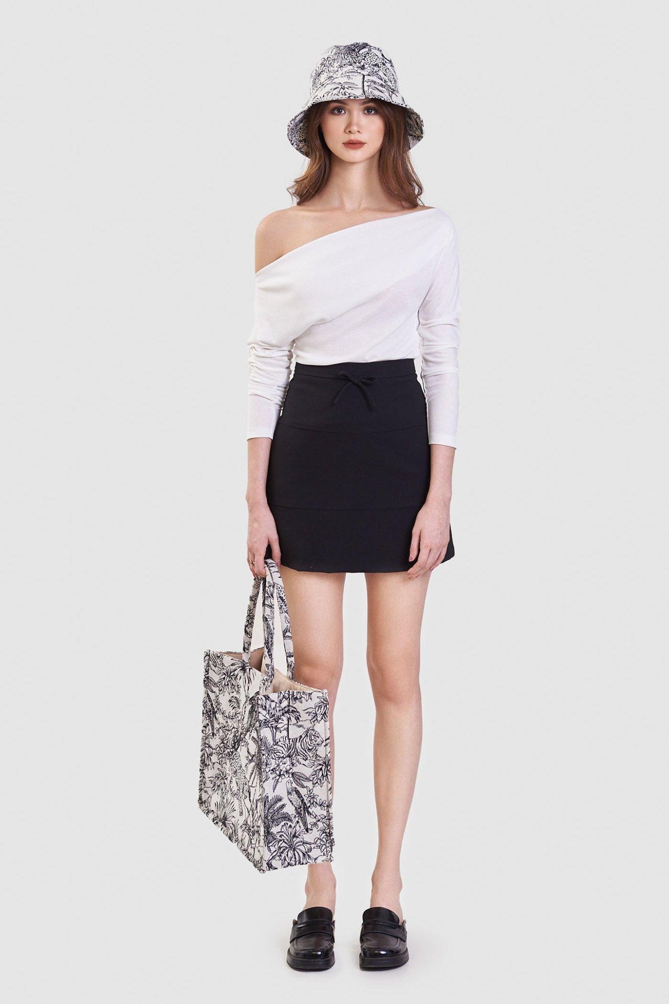Váy mini nhấn nơ rã 3 mảnh