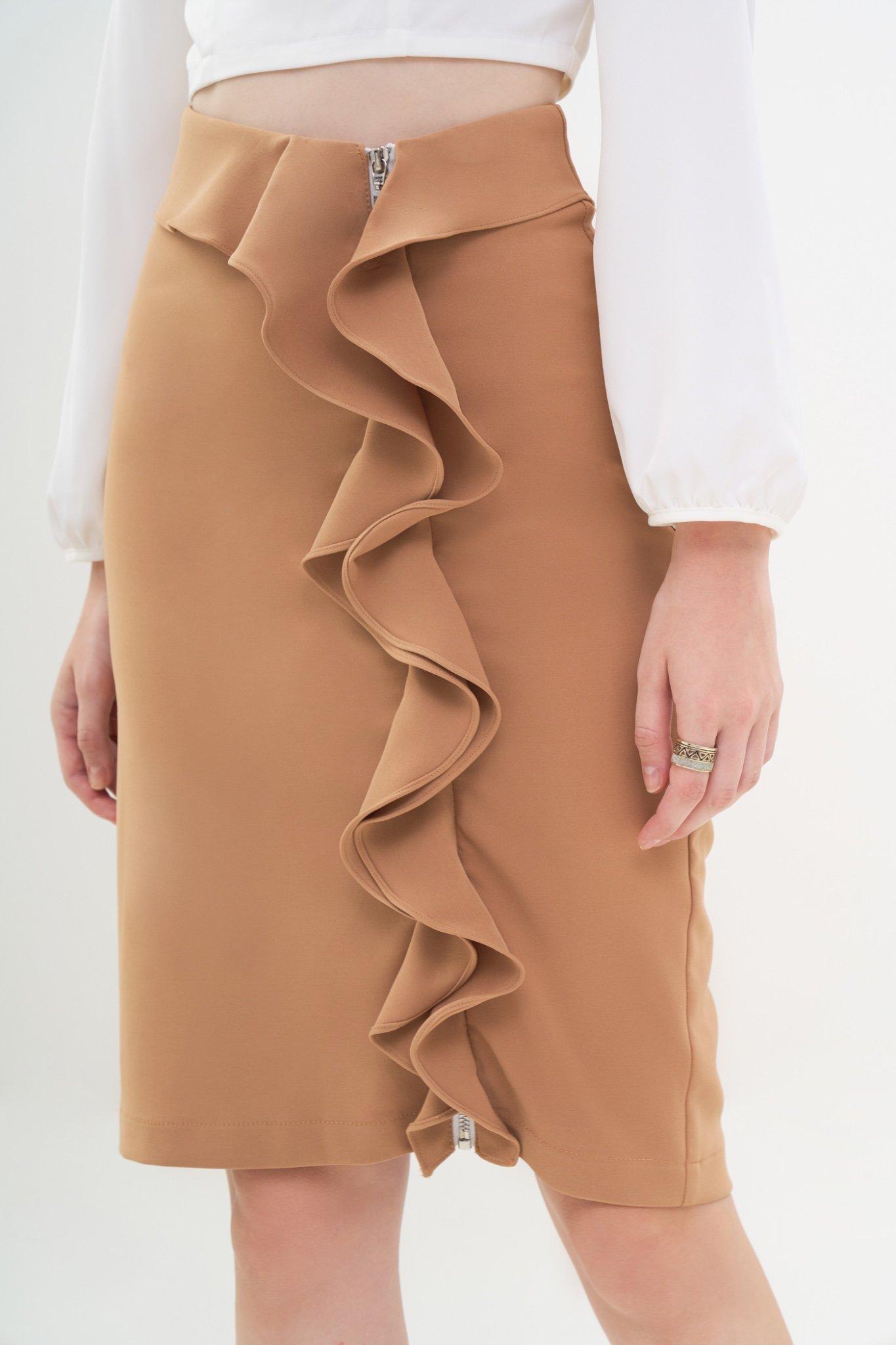 Váy form ôm phối dây kéo bèo