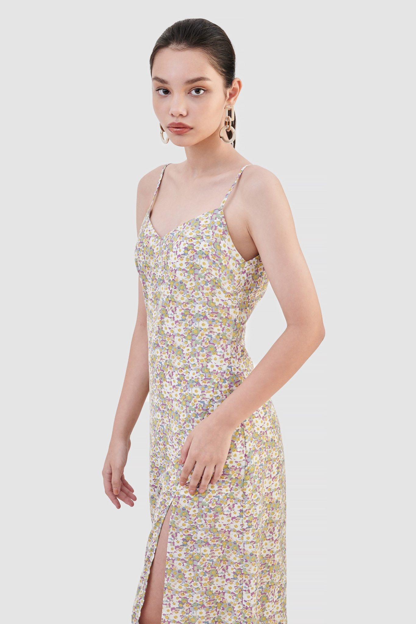 Đầm 2 dây slip dress xẻ tà