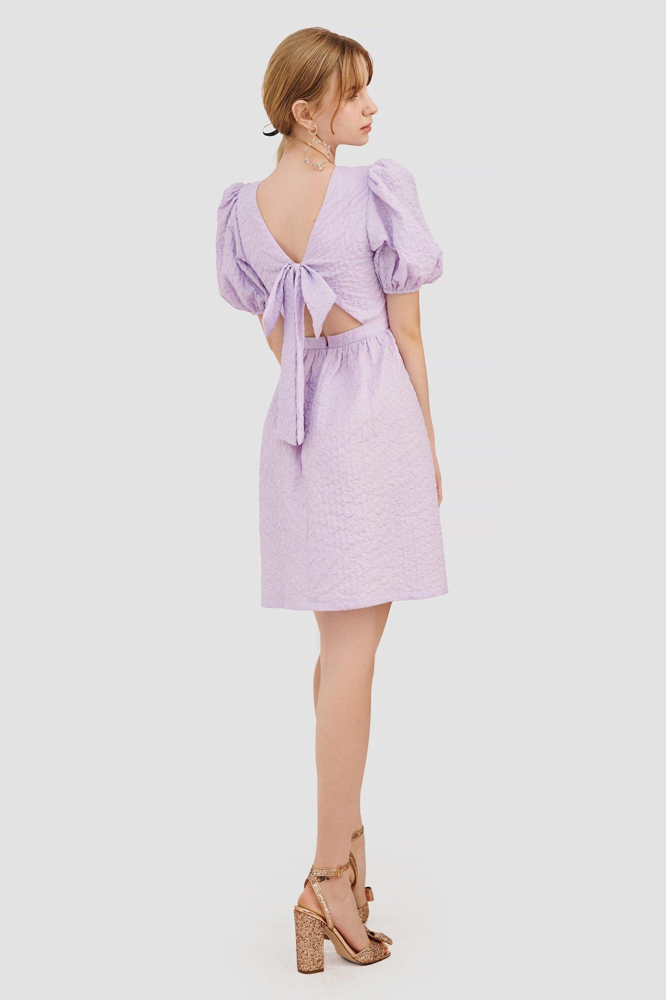 Đầm babydoll thắt nơ lưng