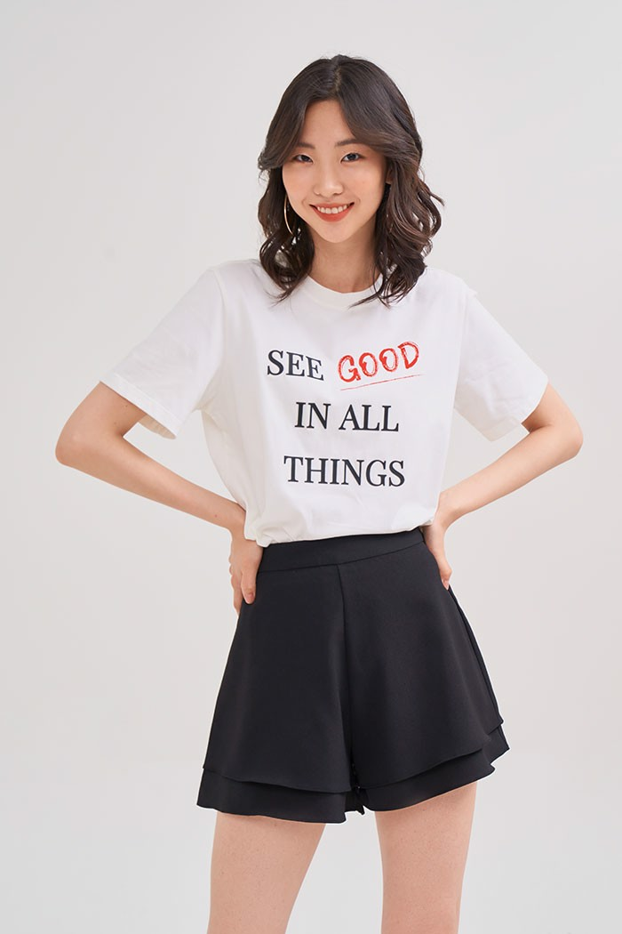 Áo thun in nổi see good in all things