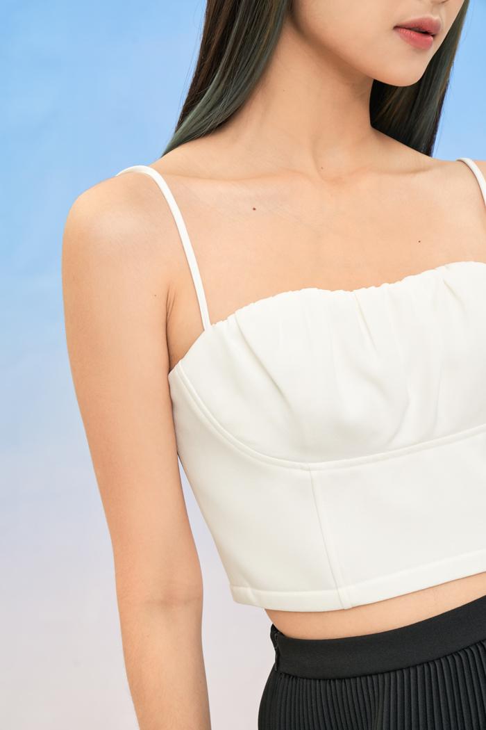 Áo crop top 2 dây cúp ngực