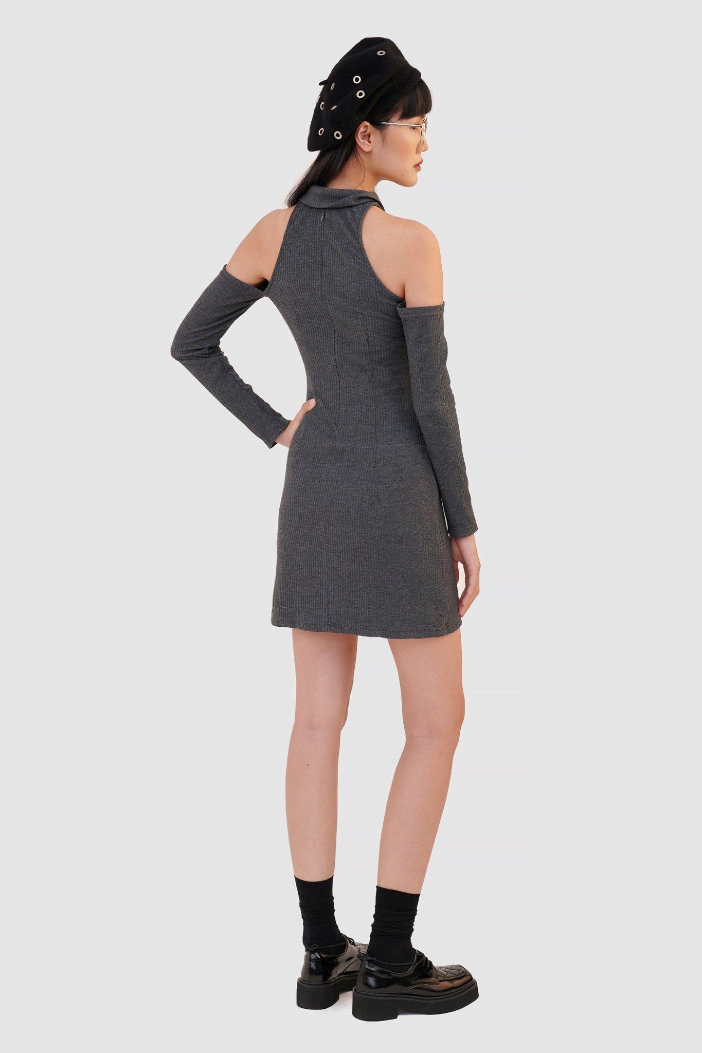 Đầm knit cutout vai