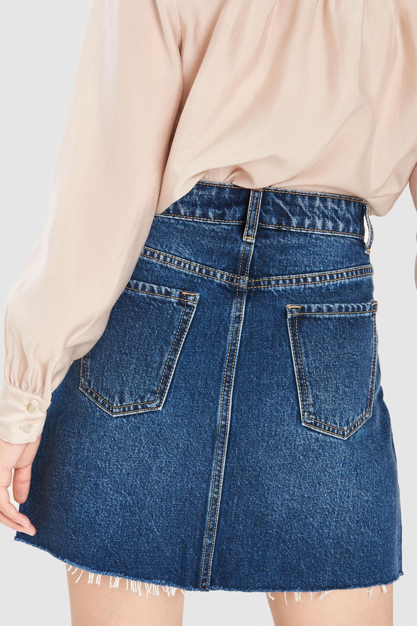 Váy jeans mini basic